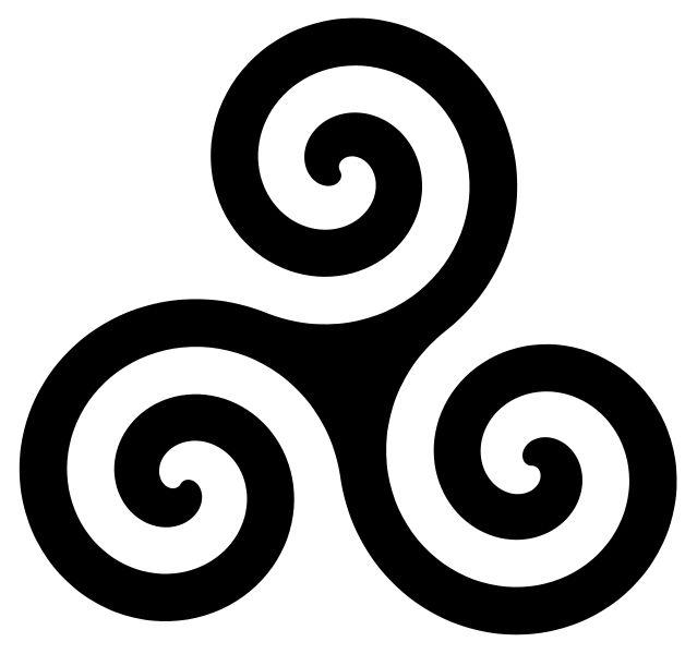 """Triskele é um antigo simbolo druida que traduzido significa Energia Divina.   """"O  triskele celta é um elemento geométrico com três esferas..."""
