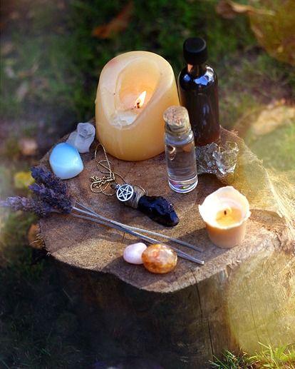 tree stump altar