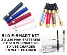 510 E-SMART DELUXE STARTER KIT 320MAH With 10ML Nicotine Eliquid - Ecig CANADA Zone