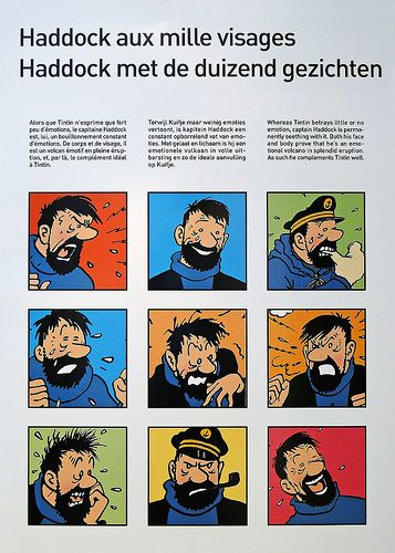 DIFFERENTES EXPRESSIONS DU CAPITAINE HADDOCK