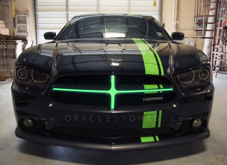 2011-2014 Dodge Charger ORACLE Illuminated Grill Crosshairs Message me for prices on the crosshairs. http://dragonbydesign.bigcartel.com/product/automotive-lighting