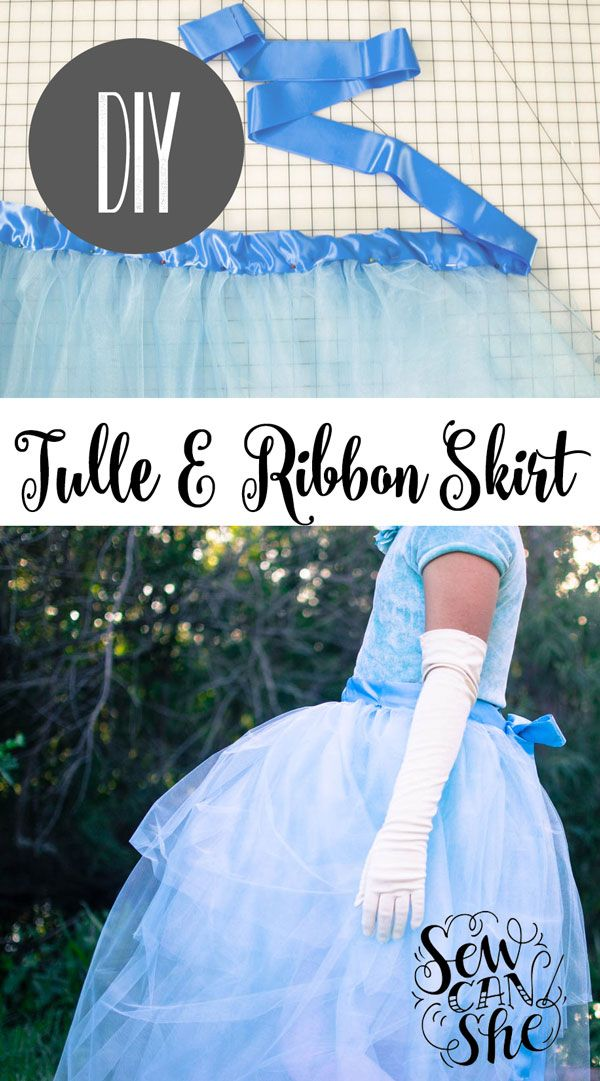 DIY Tulle and Ribbon Wrap-Around Skirt — SewCanShe | Free Daily Sewing Tutorials