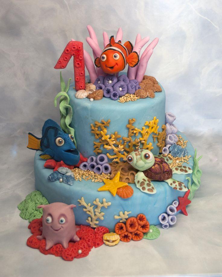 Dort s Nemem a jeho kamarády. Cake with Nemo and his friends.