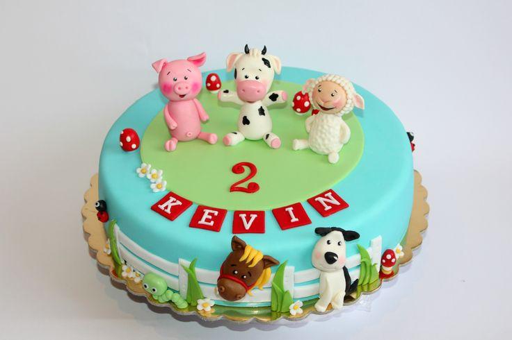 cake farm animals cake birthday