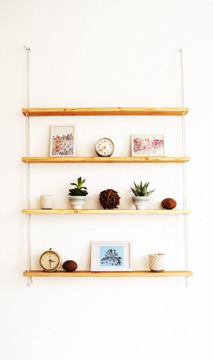IKEA hack: hangende planken met touw - Roomed