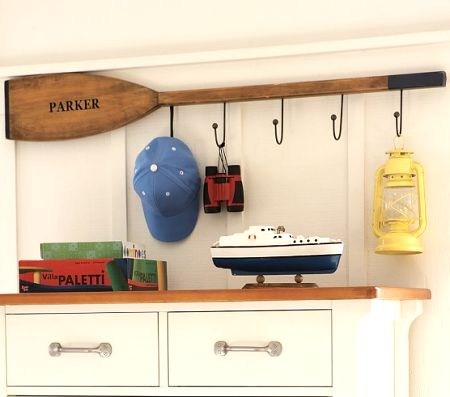 Very cool idea for a boys room! Or leave the name off entirely! This site has some cool nautical ideas! Love this!