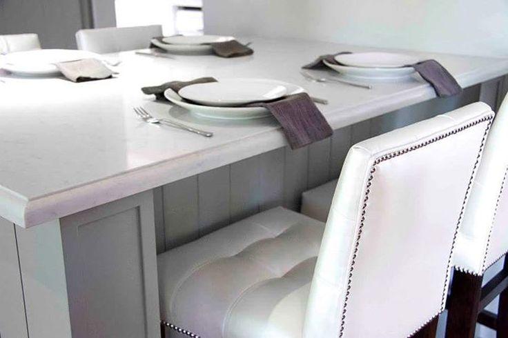 """""""Project l Burton St l Aurora #customdesignedkitchen  #tuftingandstuds #itsallinthedetails"""""""