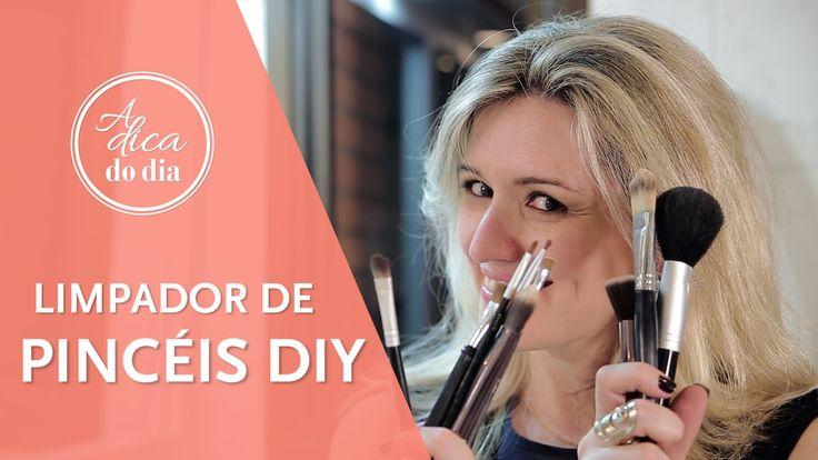 Veja como limpar os pincéis de maquiagem de uma forma prática e rápida, com o limpador  de pincéis caseiro DYI - para fazer em casa!!!