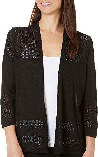 August Silk Womens Chiffon Crossover Back Cardigan Medium Black   Special Offer: $29.99      122 Reviews Classically chic, this August Silk cardigan features an open front, pointelle knit panels, side splits, and a sheer crossover back. Length measures approximately 24.5 inches. Polyester....