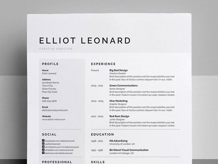 36 best cv\/resume images on Pinterest Cv design, Resume ideas - sample of cv or resume