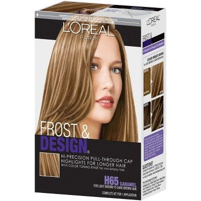 L'Oreal Paris Frost & Design Dramatic Hi-Precision Pull-Through Cap Highlights - H65 Caramel - 1 Kit