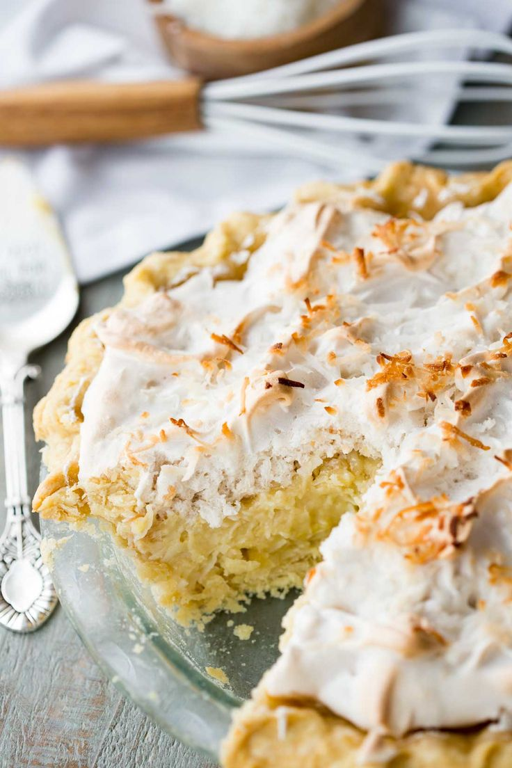 Rich, creamy, and coconut-y, this coconut cream pie is the ultimate in cream pies. It has a sweet, but not too sweet coconut cream center, a fluffy meringue, and a thick, buttery crust (optional). It is a must make! Coconut Cream Pies ©Eazy Peazy Mealz by EazyPeazyMealz.com Pin it to your Dessertboard to SAVE it for later! Follow Eazy Peazy Mealz on Pinterest for more great tips, ideas and recipes! I grew up a pie lover. Every year we would anxiously wait for the Marie Callendar's pie sale…