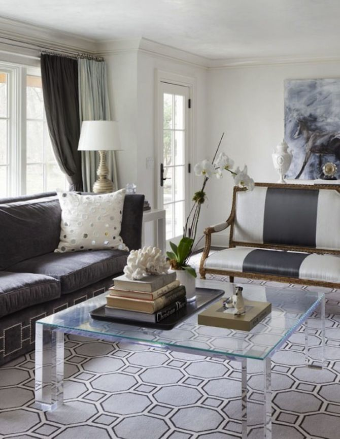 This living room is decorated in contemporary