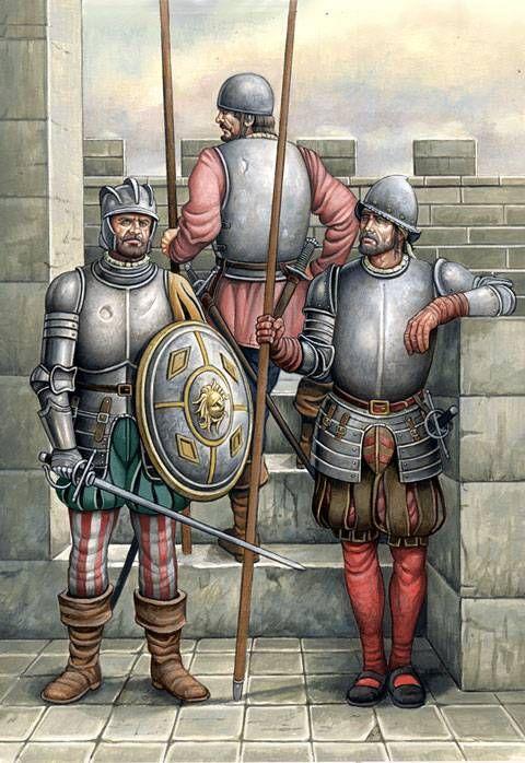 Spanish troops by Angel Garcia Pinto