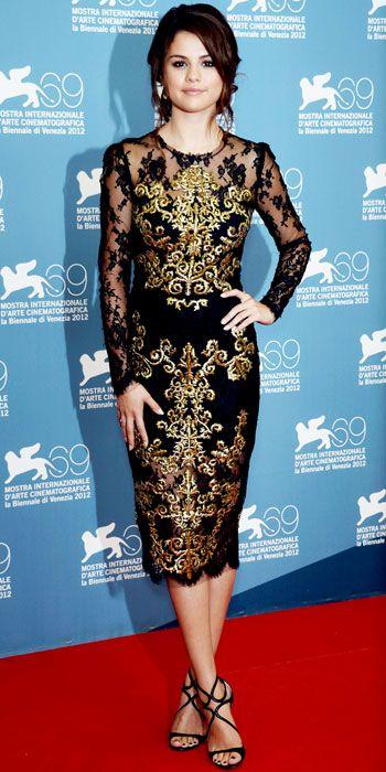 Selena Gomez Dolce & Gabbana lace dress