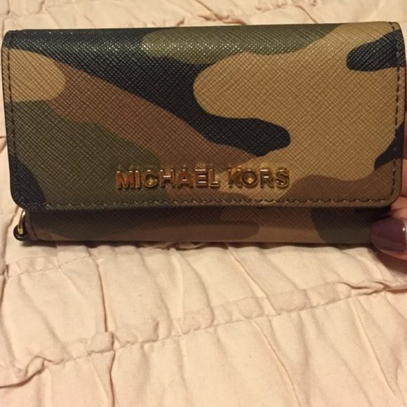 Michael Kors Camo phone case iPhone 5 Only missing the strap as pictured Michael Kors Accessories Phone Cases