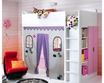 Hibou lit Playhouse / lit tente / Loft rideau par CreativePlayShop