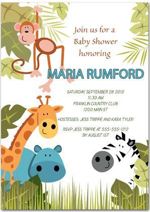 24 best BABY SHOWER JUNGLESAFARI INVITATIONS images on Pinterest