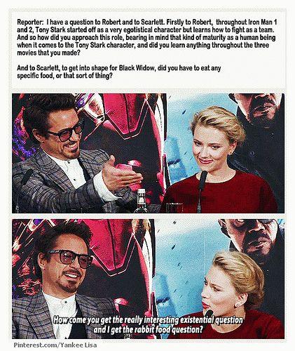 Robert Downey Jr. & Scarlett Johansson