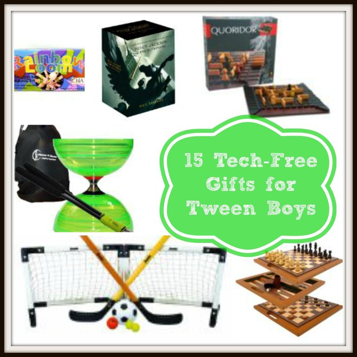 15 Tech-Free Gifts for Tween Boys http://groovygreenlivin.com/15-tech-free-gifts-for-tween-boys/
