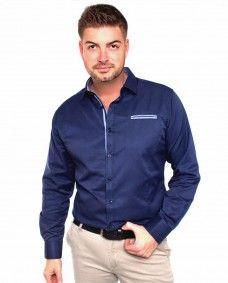 Camisa Azul Marino Formal