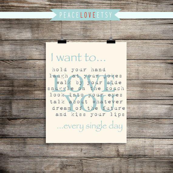 I want to... Love quote Master Bedroom Wedding door PeaceLoveEtsy