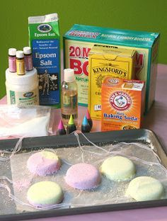 Bath Bombs w/ suggested essential oils for arthritis, insect bites, muscle pain, PMS, and others