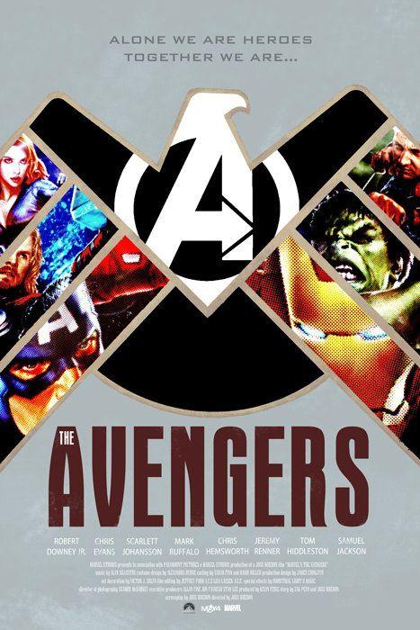 THE AVENGERS Movie Poster Art by DukeDastardly