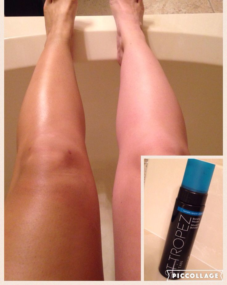 The BEST self tanner! St. Tropez. It doesn't make you orange, just a natural looking tan! You can buy for about $30 at Ulta.