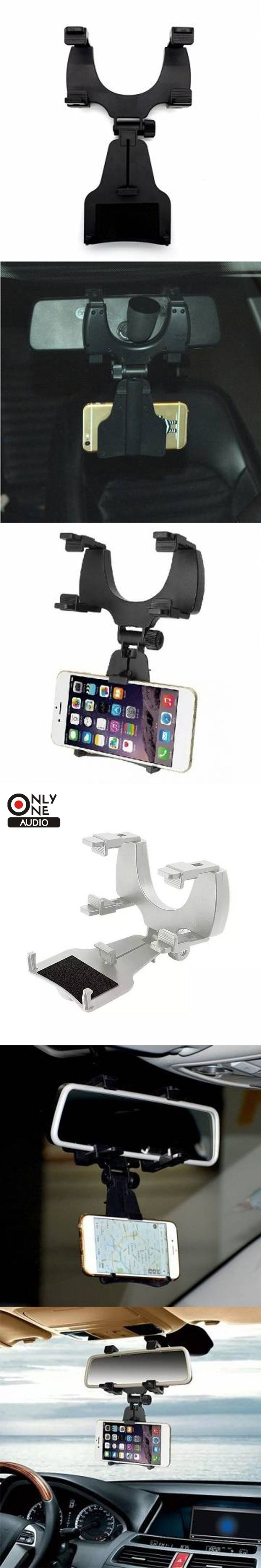 Only one audio Universal Car Rear View Mirror Bracket Mount Holder for 4-6.3 inch Smartphone