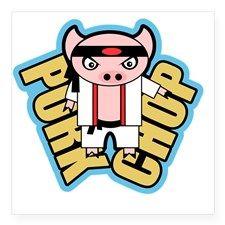 Pork Chop  #porkchop #karate #pig #pork #funny #humor #cute #puns #punny #martialarts #graphicart #art #drawing #illustration #animals