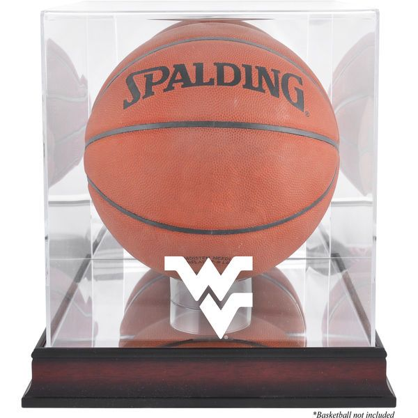 West Virginia Mountaineers Fanatics Authentic Mahogany Antique Finish Basketball Display Case with Mirror Back - $99.99