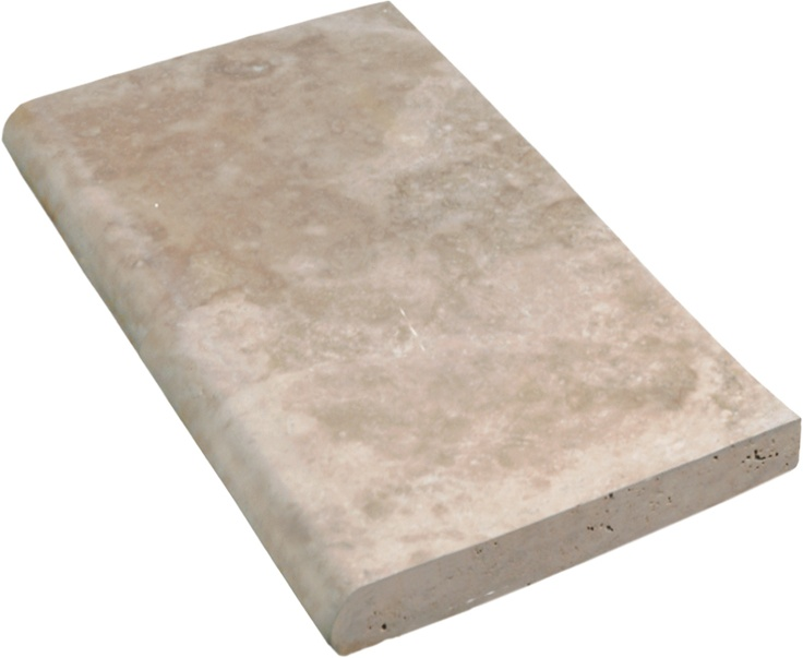 travertine rounded pool coping