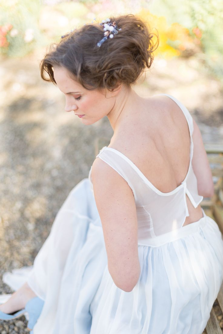 My bridal Separate from the 'Cloudless' Collection.  Jessica Turner Designs.  Accessories What Katy Did Next. HMU Double Dutch and handmade shoes Marsha Hall.  Jessica Davies Photography