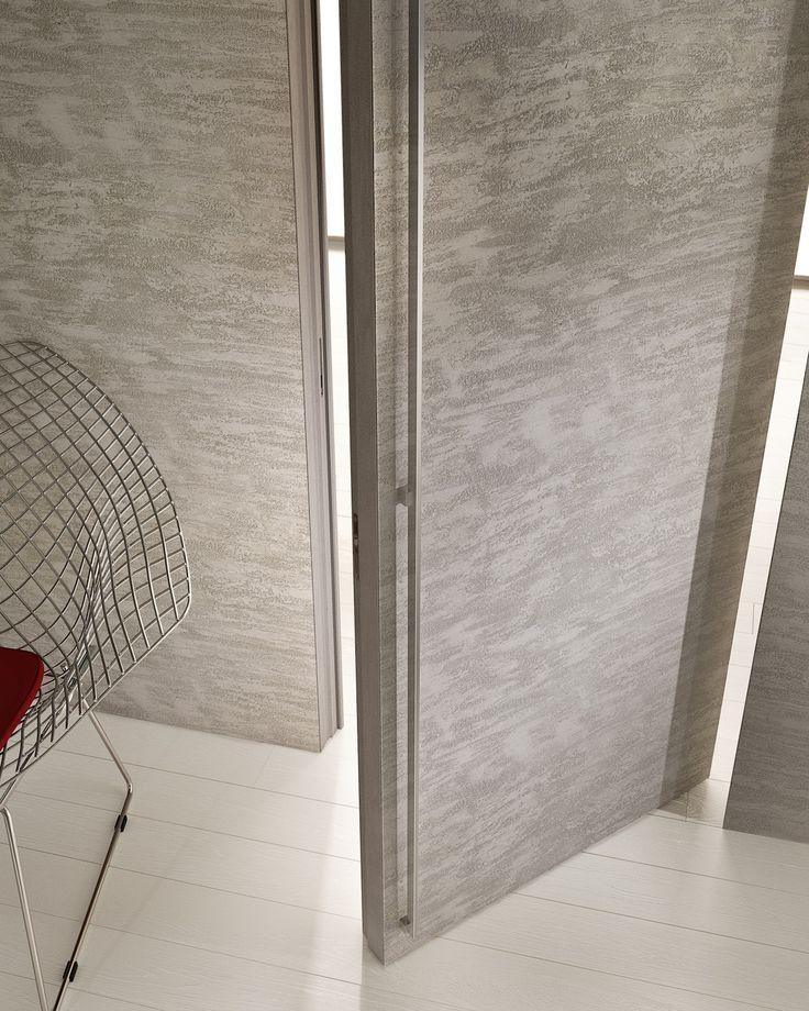 Porta a bilico a filo muro in cemento FILOMURO by GAROFOLI