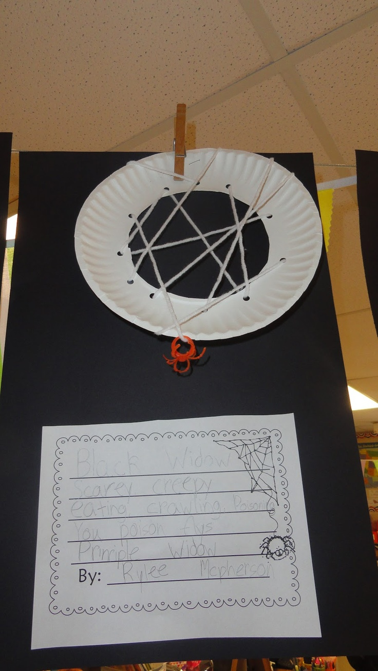 Classroom Freebies: Spider Writing Craft Freebie! I like the web idea maybe with a non-fiction text.