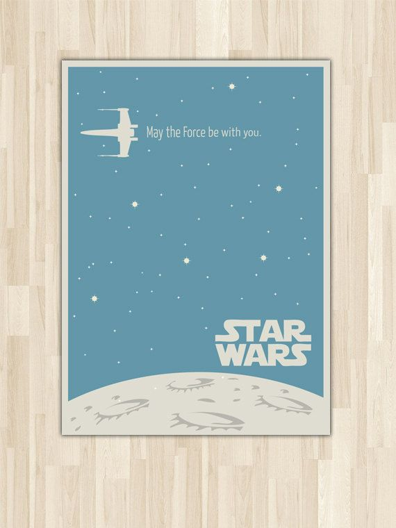 Star Wars Poster Art van pinepixel op Etsy