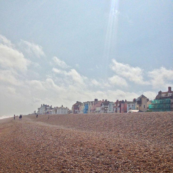 on the beach in Aldeburgh, Suffolk (England)