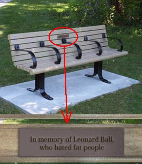 In memory of Leonard Ball, who hated fat people.
