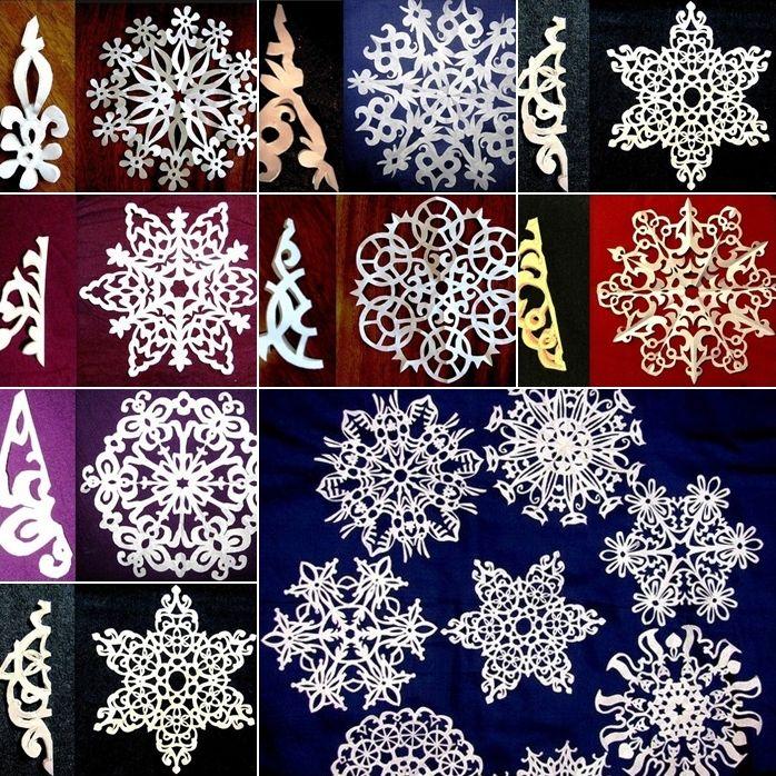 25 Paper Snowflake Designs with Templates for Winter Decor - http://www.amazinginteriordesign.com/25-paper-snowflake-designs-templates-winter-decor/