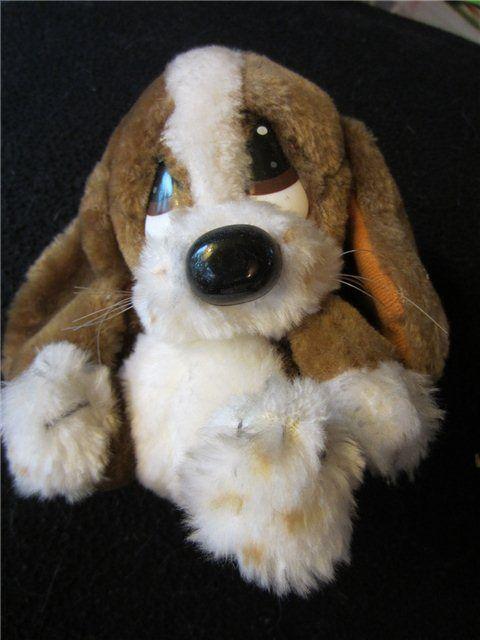 DEXTER DOG Vintage Stuffed Animal Plush Big Eyed Droopy ...