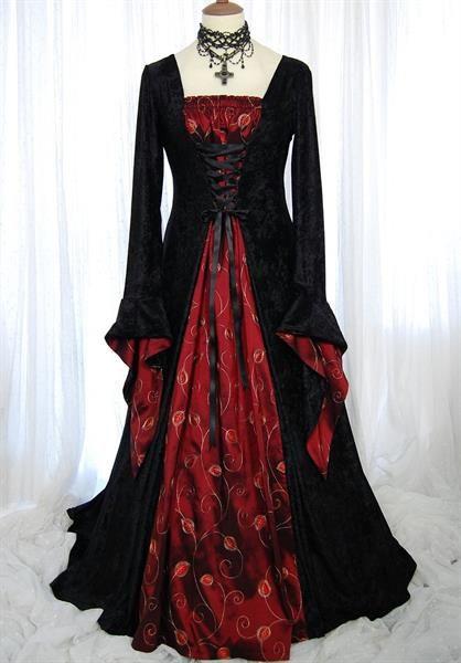 Купить готическое платье в пол