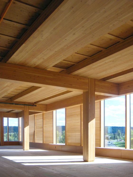 Beautiful #wood interior. Cross laminated timbers #clt #architecture
