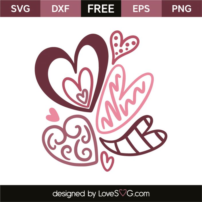*** FREE SVG CUT FILE for Cricut, Silhouette and more *** Cute little hearts