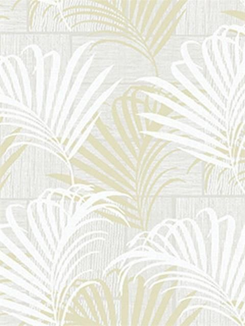 Grey and Gold Hollywood Palm Wallpaper