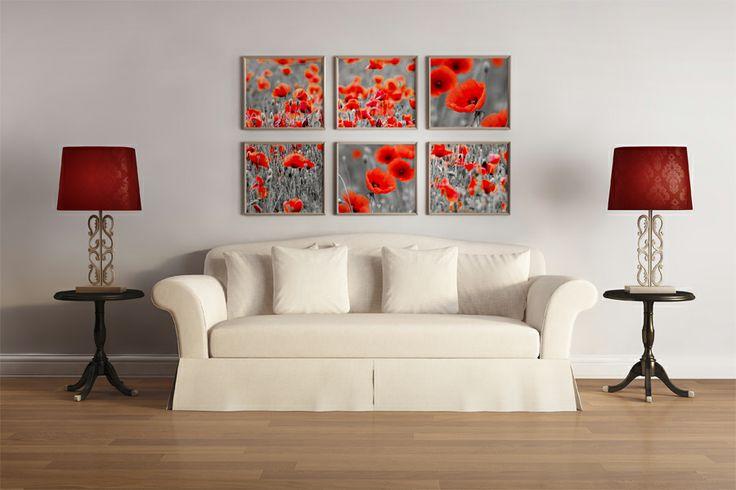 Obrazy wieloczęściowe w salonie  #obraz #obrazy #salon