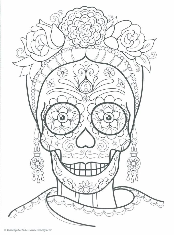 Mejores 248 Imgenes De Sugar Skulls Day Of The Dead Coloring Pages For Adults En Pinterest