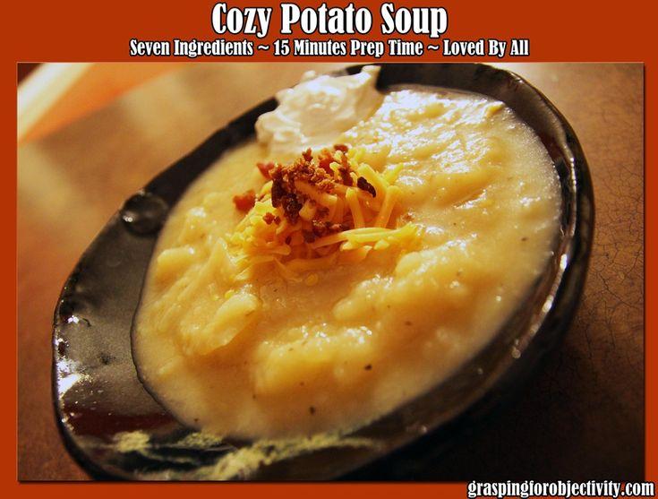 Cozy Potato Soup - my FAVORITE soup!: Potatoes Onions, Recipe, Second, Cozy Potatoes, Fab Soups, Potatoes Soups, Food Yummmm, Green Onions, Favorite Soups