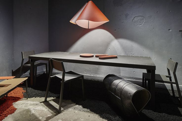 TubeTable @ DDW 2017 preesentation of Forbo at the Kazerne photography Studio de Winter styling Thomas Eurlings collection Brothers and Sons design Jesse Visser