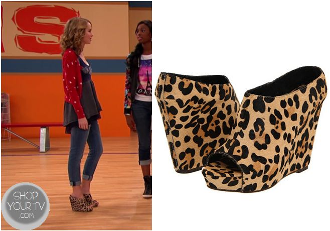 Good Luck Charlie: Season 4 Episode 4 Teddy's Leopard Print Wedges - ShopYourTv